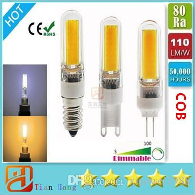10x new bombillas g9 6w led 2609 cob lamp bulb chandelier lamps lampada dimmable led light e14. Black Bedroom Furniture Sets. Home Design Ideas