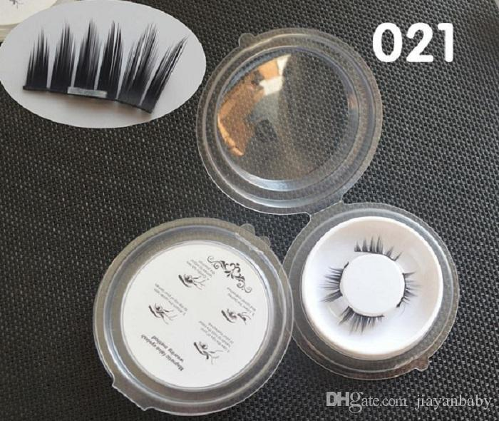 Top Quality 3D Magnetic False Eyelashes Extension Magnetic Eyelashes Makeup Soft Hair Magnetic Fake Eyelashes with retail packaging 100