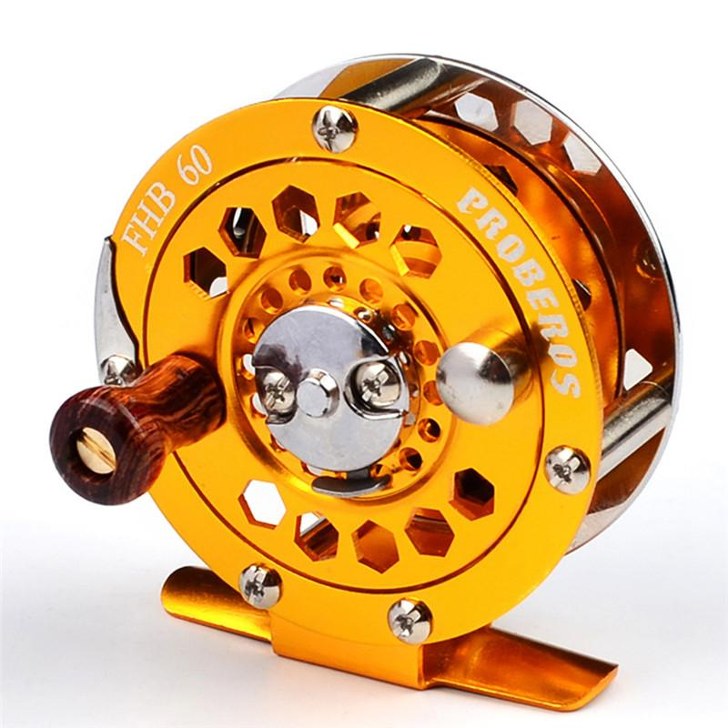 2018 высокое качество рыболовная катушка экспортируется в Японию Glod color Fly Reel 3/4# 128g Fly Fishing Wheel диаметр 60 мм