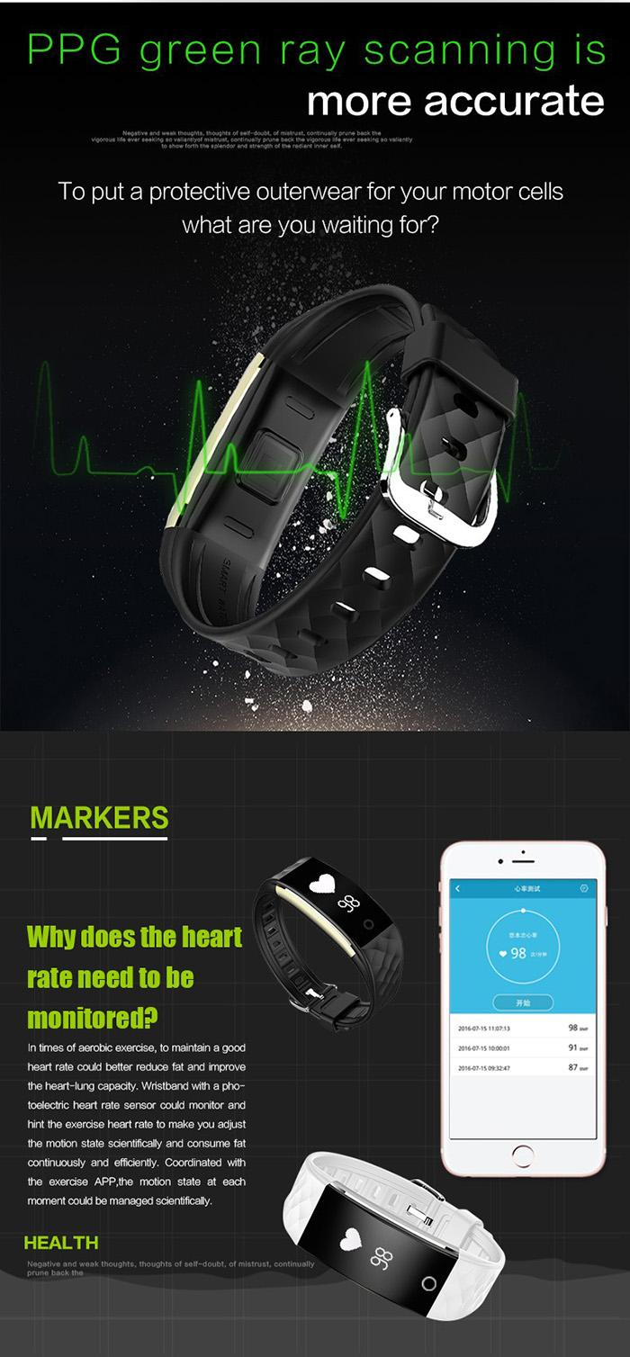 2018 Dynamic Heart Rate S2 Smartband Fitness Tracker Step Counter Smart Watch Band Vibration Wristband for ios android pk ID107 fitbit tw64