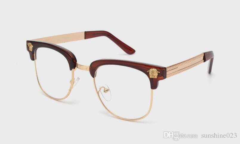 НОВЫЙ бренд blackgold мужские полу оправы очки оправы УФ металл полукадра прозрачные линзы очки оптические бесплатная доставка