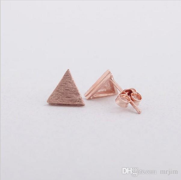 En 2016, double triangle composite nouvelle mode femmes boucles d'oreilles belles boucles d'oreilles en gros livraison gratuite meilleur cadeau