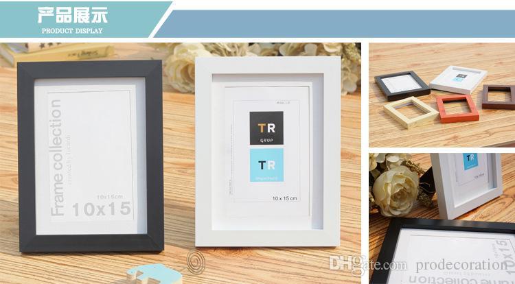 Nueva imitación creativa de madera, plástico, marco de fotos, montaje en pared, marco de fotos, 7 pulgadas, A4, pintura al óleo, marco de alta calidad, decoración del hogar