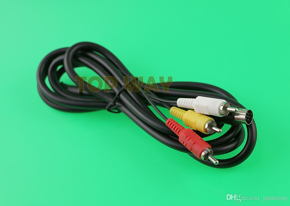 Nuova vendita calda 6FT 1800mm Retro-bit AV cavo audio video RCA Sega Genesis 2 3 II III cavo di collegamento
