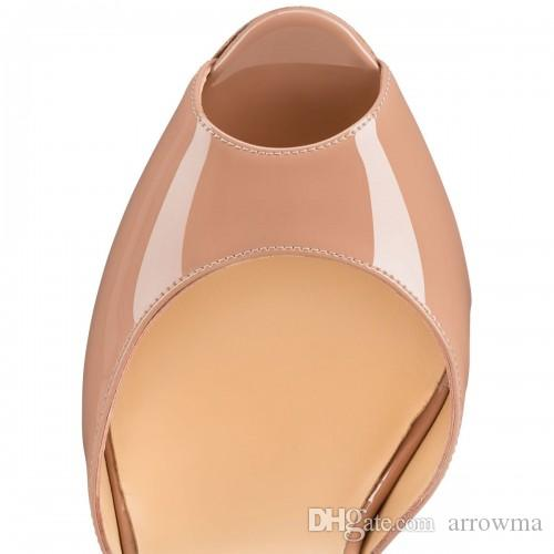 2016 Custom Made Wedding Shoes Rose Nude Color Buckle Strap High High Heels Plus Size Peep Toe Cheap Modest Bridal Shoes Elegant Fashion