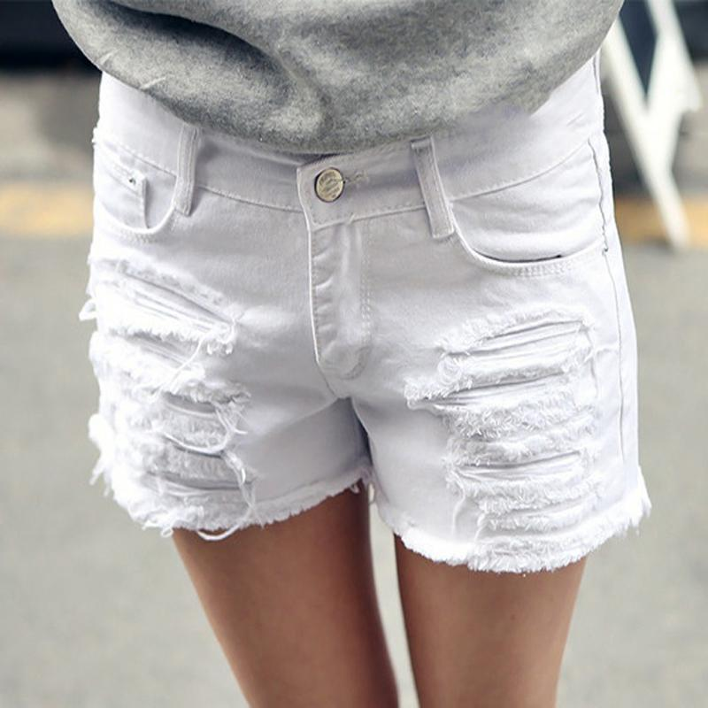 97f1f664c77 2019 Wholesale Plus Size 6XL White Denim Shorts Women 2016 Summer Fashion  Black Ripped Jeans Shorts Hole Tassel Femme Shorts 26 40 Top Quality From  ...
