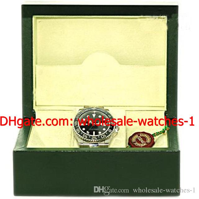 Wholesale - Luxury Perpetual Stainless Steel Ceramic GMT II Mens Watch Black # 116710 Box Papers Men's Watches