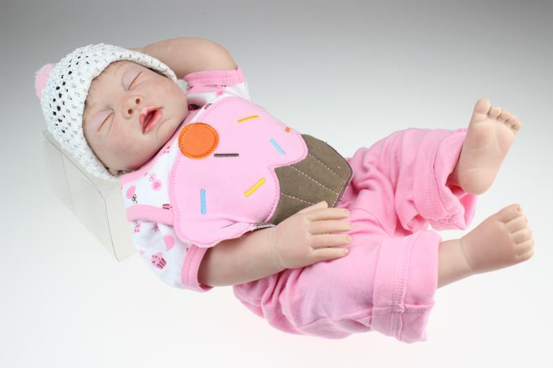 20 Inch Silicone Reborn Baby Dolls Kids Toys For Girls