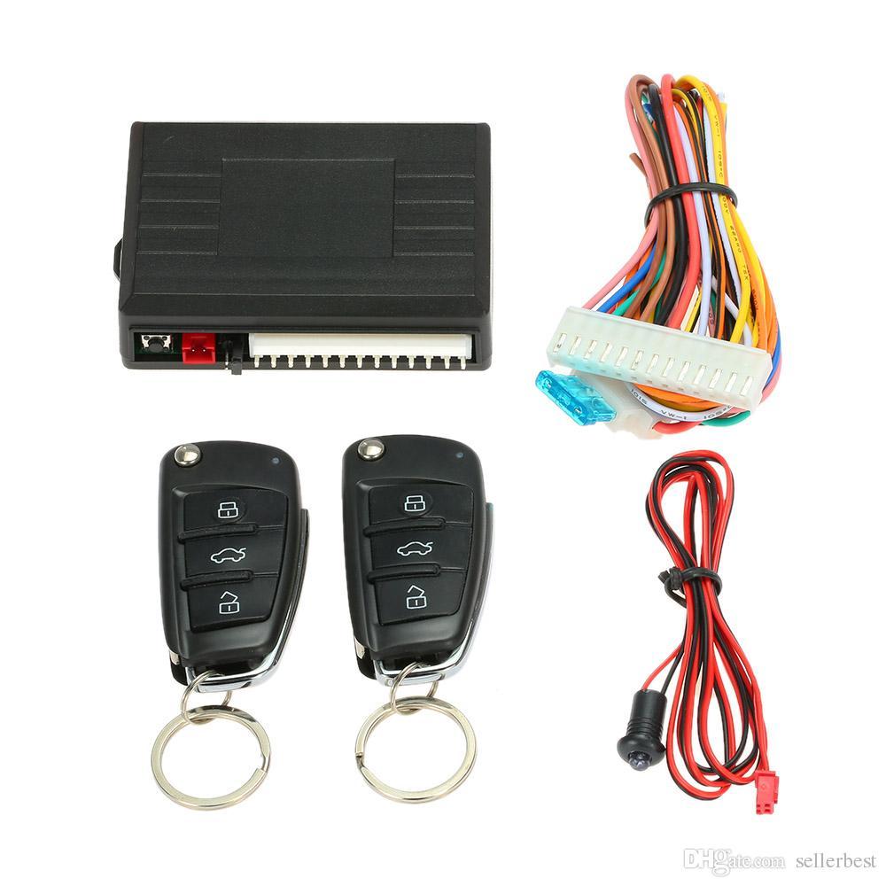 Universal Auto Alarmanlage Fernbedienung Auto Zentralverriegelung Keyless System mit Kofferraum Auslöseknopf für Peugeot 307 VW Toyota