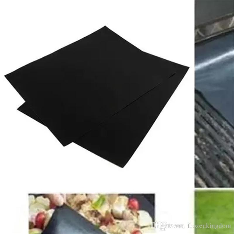 Coperchio della fodera del BBQ grill 33 * 40 cm bbq Griglia Mat antiaderente riutilizzabile bbq copertura cottura cottura forno a microonde stuoie trasporto libero 2017091015