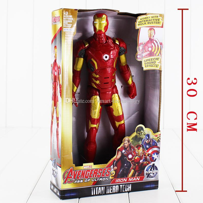 29cm Super Heros Iron Man Tony Stark PVC Action Figure Collectable Model toy for kids Christmas gift retail
