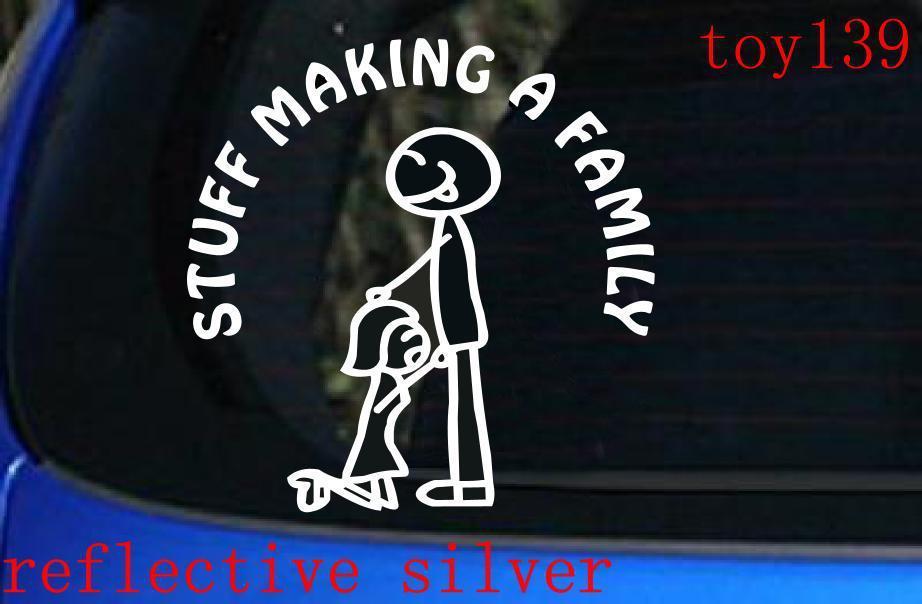 STUFF MAKING A FAMILY Funny Car Window Vinyl Sticker Funny - Car window decal stickers online