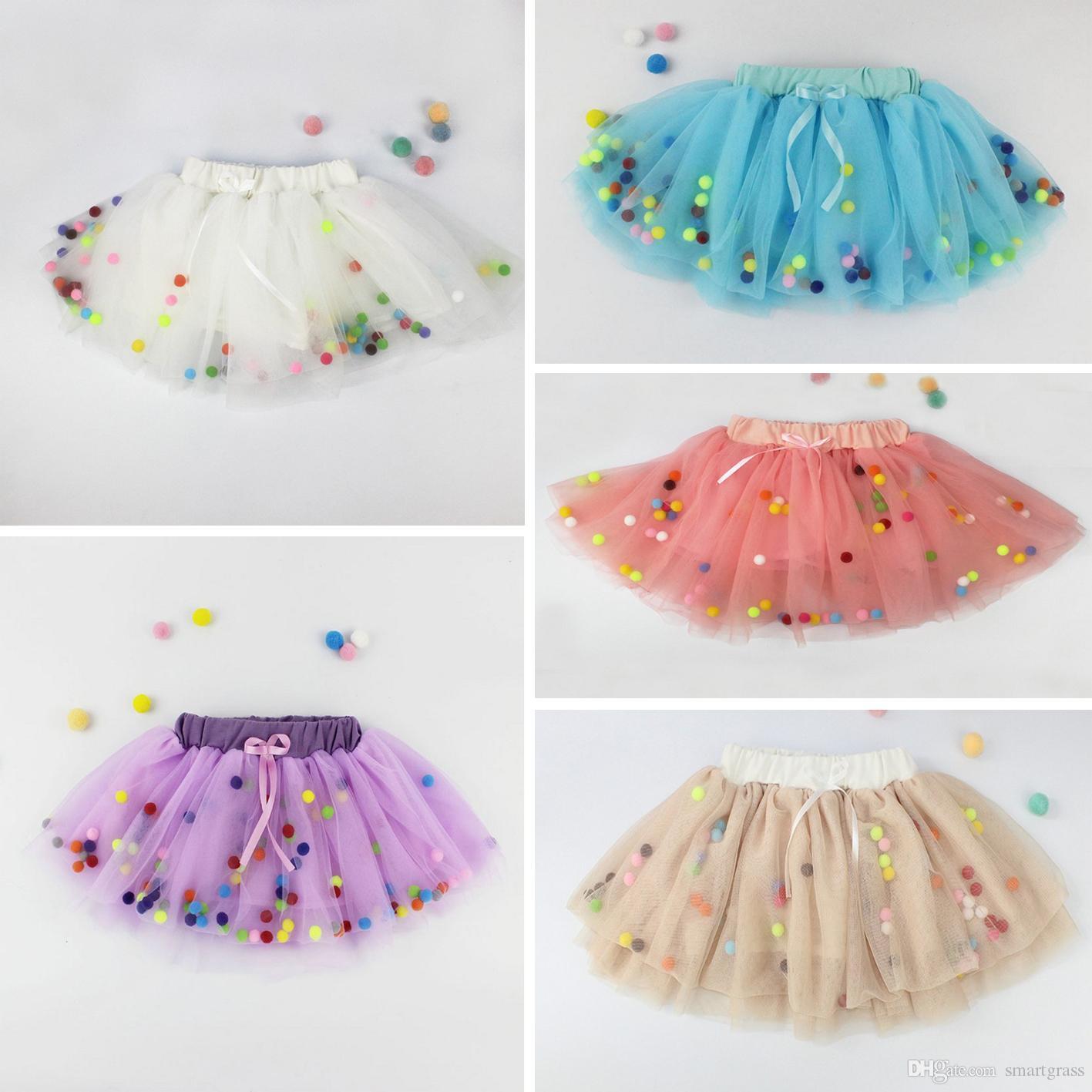2018 Baby Tulle Skirt Ball Gown Dance Skirt Girls Colorful Tutu