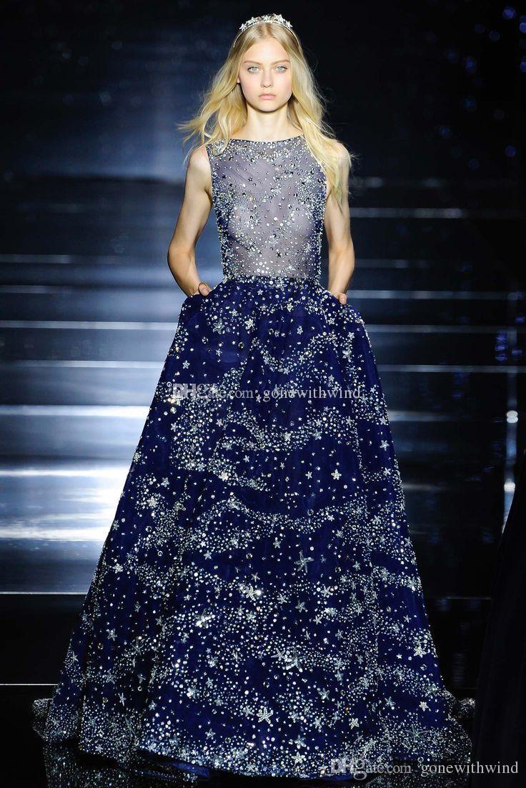 2017 Zuhair Murad Dresses Evening Wear Luxury Crystals Beaded ...
