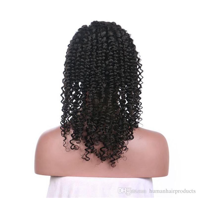 Kinky Curly Brazilian Hair Wigs With Baby Hair 100 Unprocessed Virgin Human Hair Full Lace Wigs Hot Selling FDSHINE