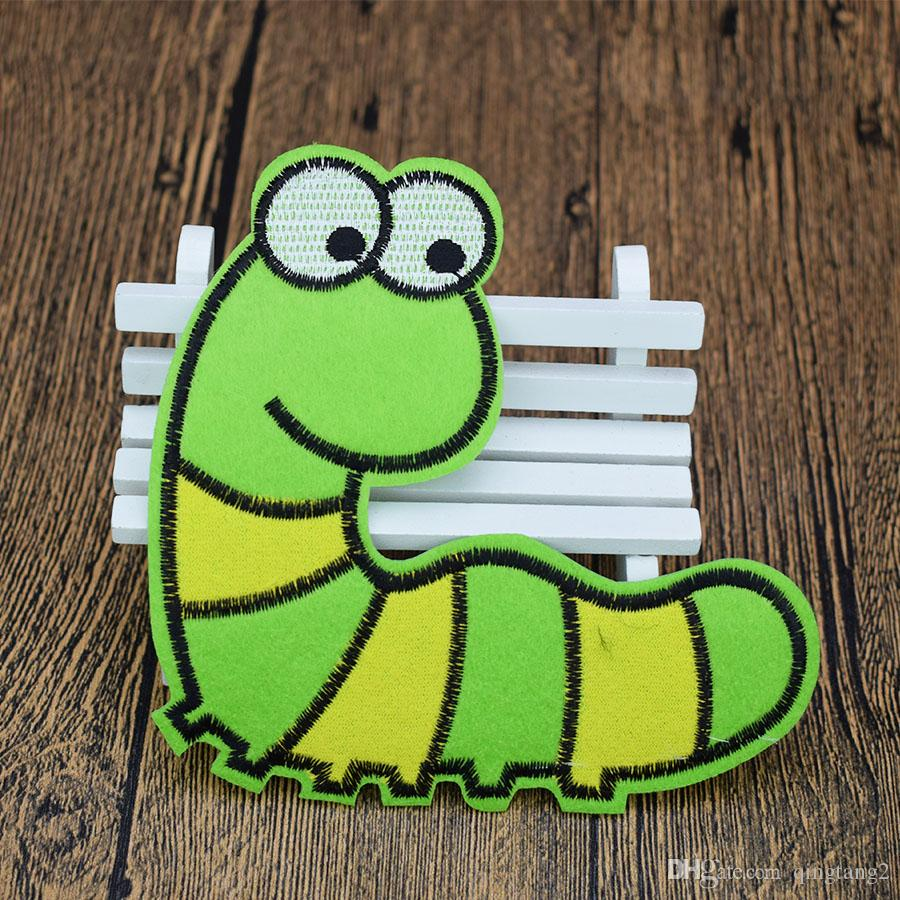 green insect embroidery patches for clothing iron patch for clothes applique sewing accessories stickers badge on cloth iron on patches