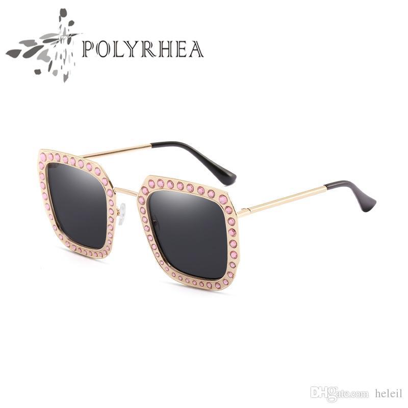 Luxury Brand Sunglasses Large Frame Elegant Special Designer with ...
