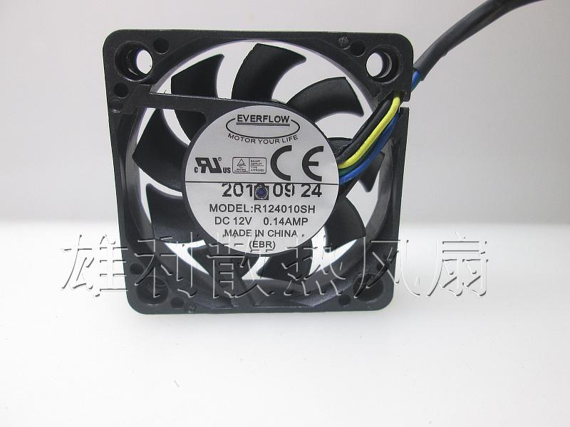 Original EVERFLOW R124010SH 12V 0.14A 4CM 4010 4 wires cooling fan