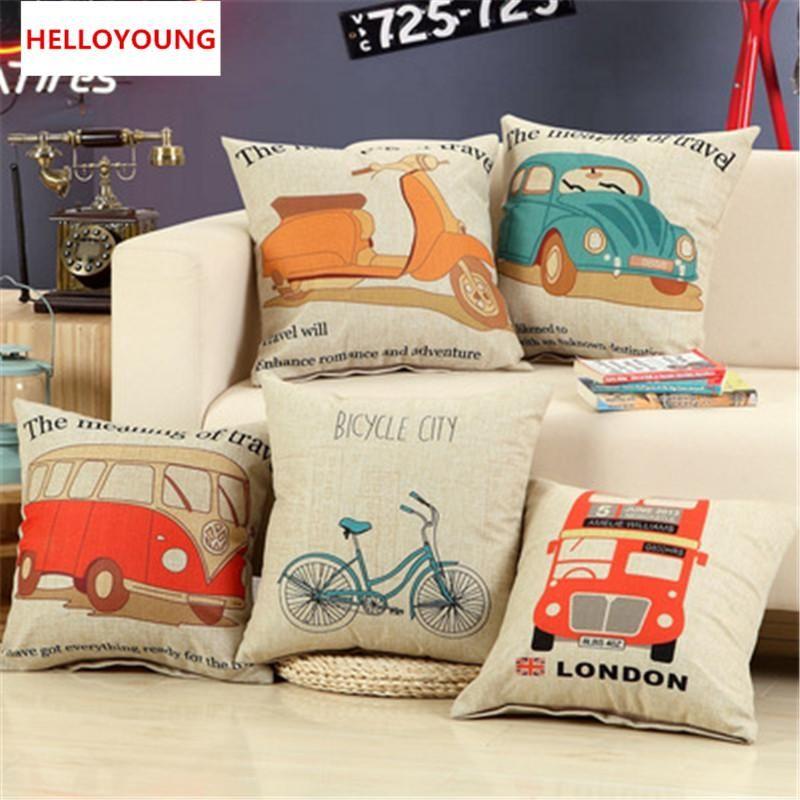 Bz049 Luxury Cushion Cover Pillow Case Home Textiles Supplies Lumbar Pillow  Car Pattern Decorative Throw Pillows Chair Seat Outdoor Patio Pillows Large  ...