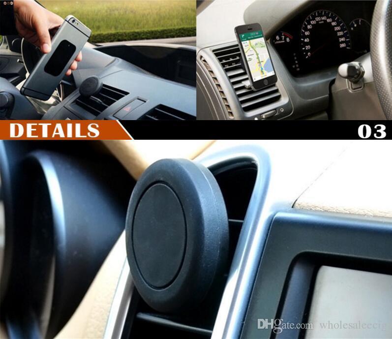 أحدث سيارة جبل تنفيس الهواء المغناطيسي حامل الهاتف فون 7 زائد العالمي الهاتف الخليوي GPS تنفيس الهواء حامل المغناطيسي سيارة جبل حامل الذكية في صندوق