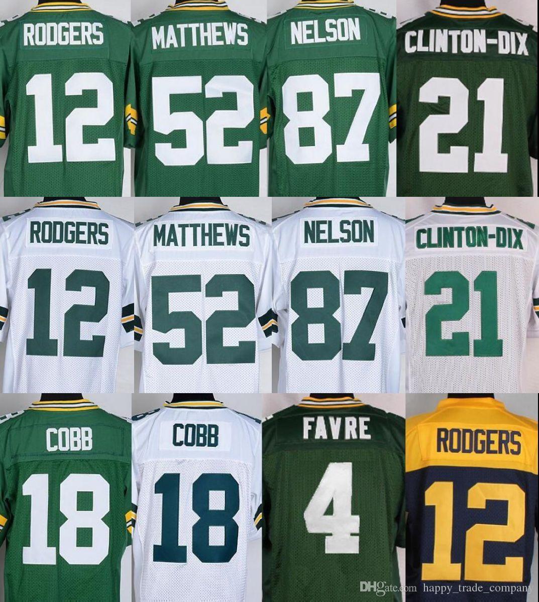 ... Best Quality Men Elite 12 Aaron Rodgers Jerseys 87 Jordy Nelson 52 Clay  Matthews Brett Favre Nike Clay Matthews Mens Olive Limited Jersey 52 NFL  Green ... 35cb0ff60