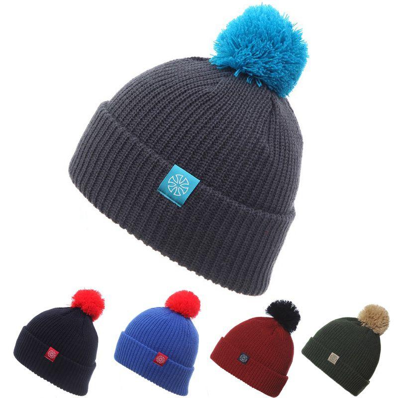 8b39d2650b6 Winter Ski Hat Warm Woolen Caps For Men Hats Female Beanies Skullies ...