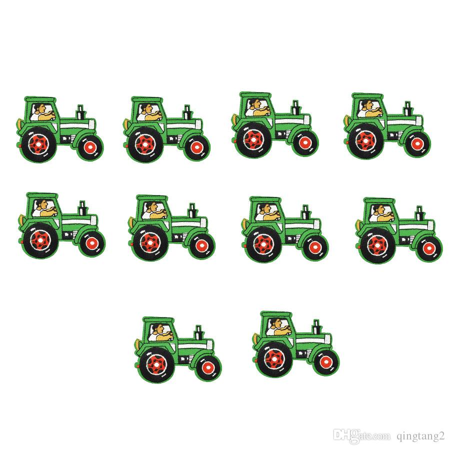 tractor embroidery patches for clothing iron patch for clothes applique sewing accessories stickers badge on cloth iron on patches DIY