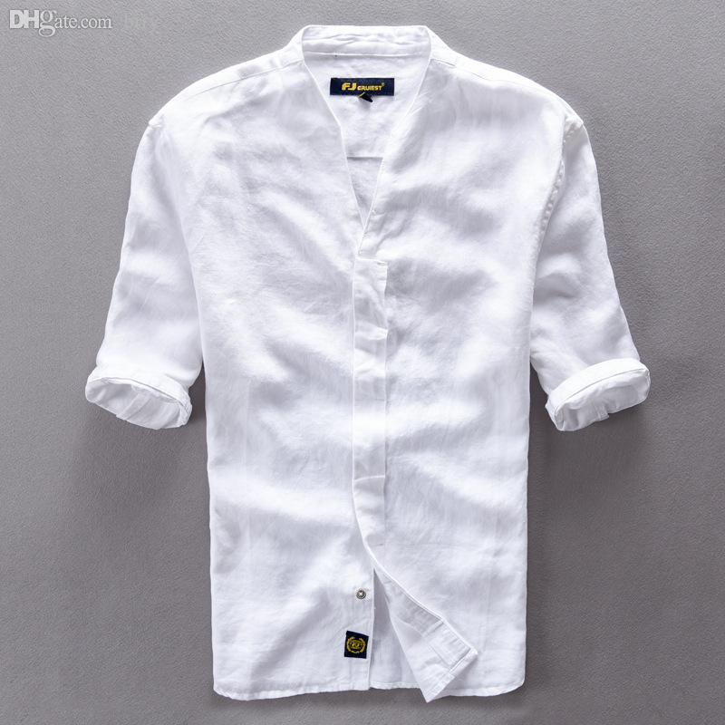 Wholesale Brand Clothing Linen Men Shirts Short Sleeve Mens Casual Business Cotton  Dress Shirt For Men Camisa Masculina Chemise Homme UK 2019 From Brry 6cfc2f97533