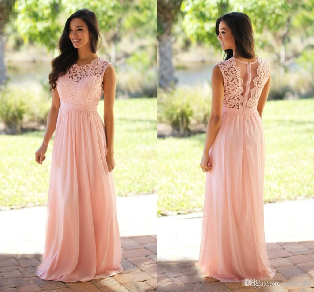 Custom Made Vintage Wedding Guest Bridesmaid Dresses Pink