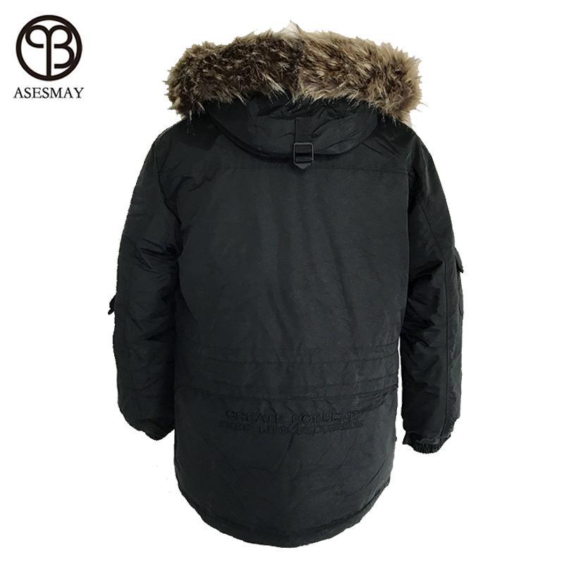 Asesmya 2017 Nueva Moda de Invierno Outwear Abajo Chaqueta de Los Hombres Casual Wellensteyn Parka Hombre Chaquetas de Invierno Más Tamaño Grueso abrigos cálidos