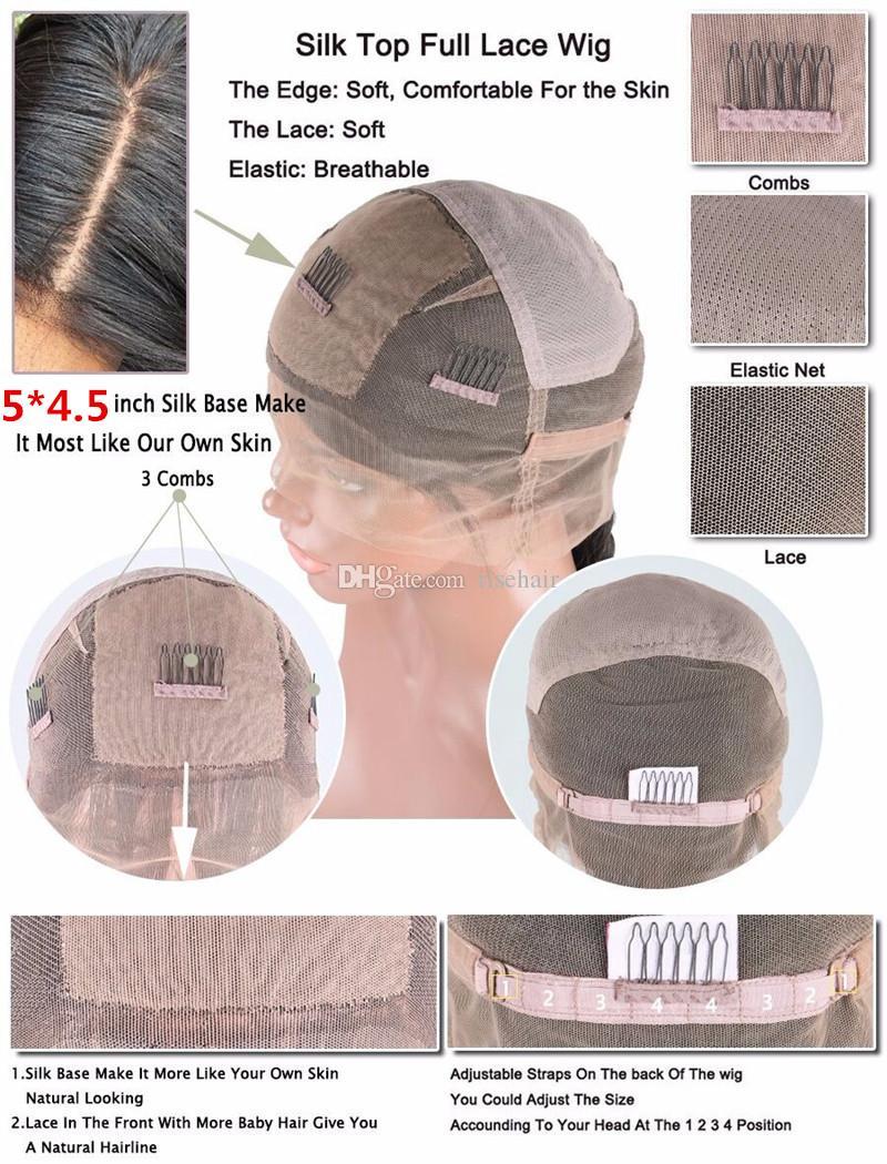 Body Wave Silk Basis Full Lace Front Echthaar Perücken Mit Baby Haar Unverarbeitete Reine Brasilianische Glueless Silk Top Volle Spitze Perücken