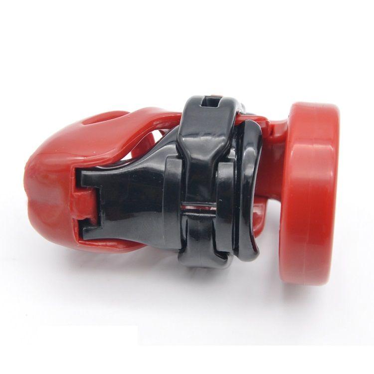 Natürliches Harz 3D männlich Kurzhahn Käfig PA Lock mit 4 größen Penis Ring Keuschheitsgerät Erwachsene Bondage BDSM Produkt Sex Spielzeug 3 Farbe A357