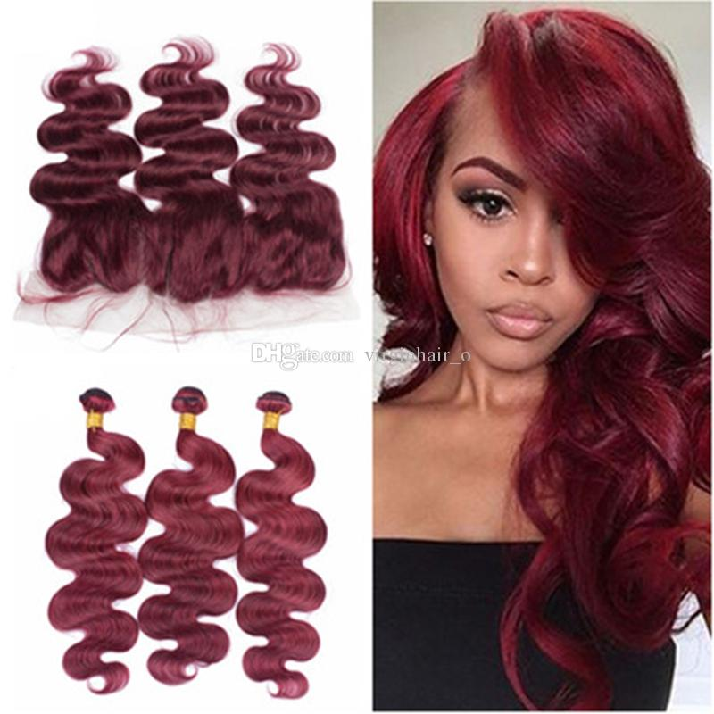 Cheap 134 ear to ear full lace frontal closure with wine red cheap 134 ear to ear full lace frontal closure with wine red human hair bundles 99j burgundy brazilian body wave hair extensions black weave black hair pmusecretfo Choice Image