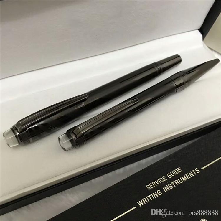 Nuevo círculo de Cerámica de metal tallado Bolígrafo de Lujo / Roller Ball Pen Papelería Escuela de Escritura de la Oficina Alemania marca Plumas regalo Venta al por mayor un