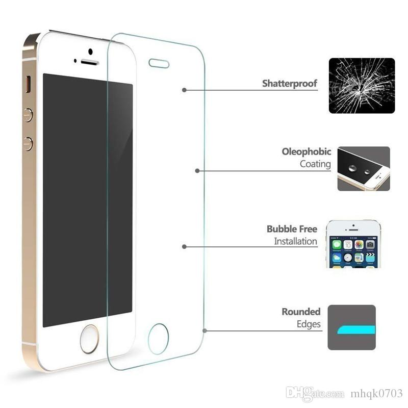 Top Quality Clear Tempered Glass Screen Protector For Apple iPhone 7 Plus 6 6s 5 5s 5c se 4 4s Protective Film Guard