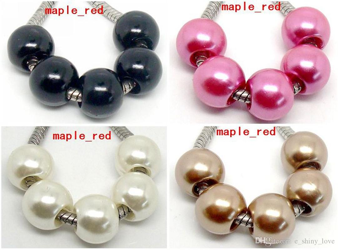 Perlas de Granos de Perlas de Perlas de Imitación Brillantes de Europa, Estilo Europeo, Pulsera y Collar de Bajo Precio.