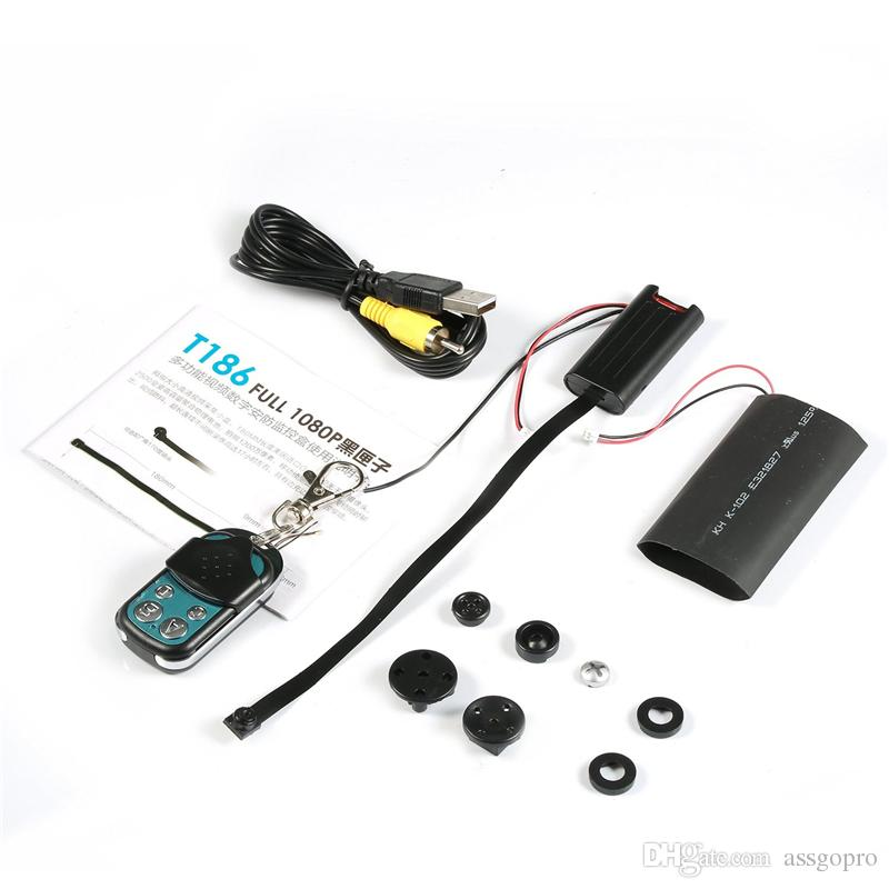 T186 HD 1080P Digital Video Remote Control Box Camera With Motion Detection DIY Camera Module With Big Battery