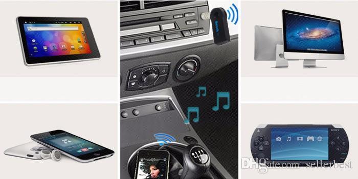 Echt Stereo Neue 3,5mm Streaming Bluetooth Audio Musikempfänger Car Kit Stereo BT 3.0 Tragbarer Adapter Auto AUX A2DP für Freisprecheinrichtung Telefon MP3