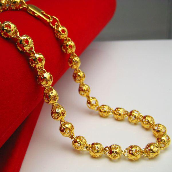 Wholesale do not fade plated gold necklace beads chain for Does gold plated jewelry fade