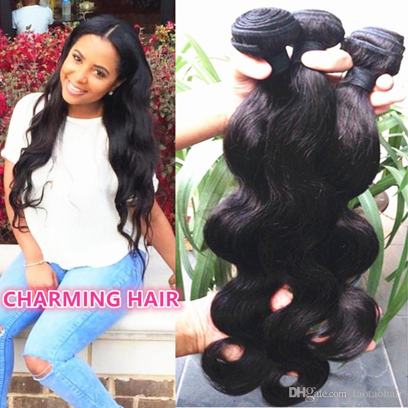 Бразильская волна тела 10A 3 пачки норки бразильские Виргинские продукты волос ферзя волос ферзя волос 100% Unprocessed пачки человеческих волос Remy