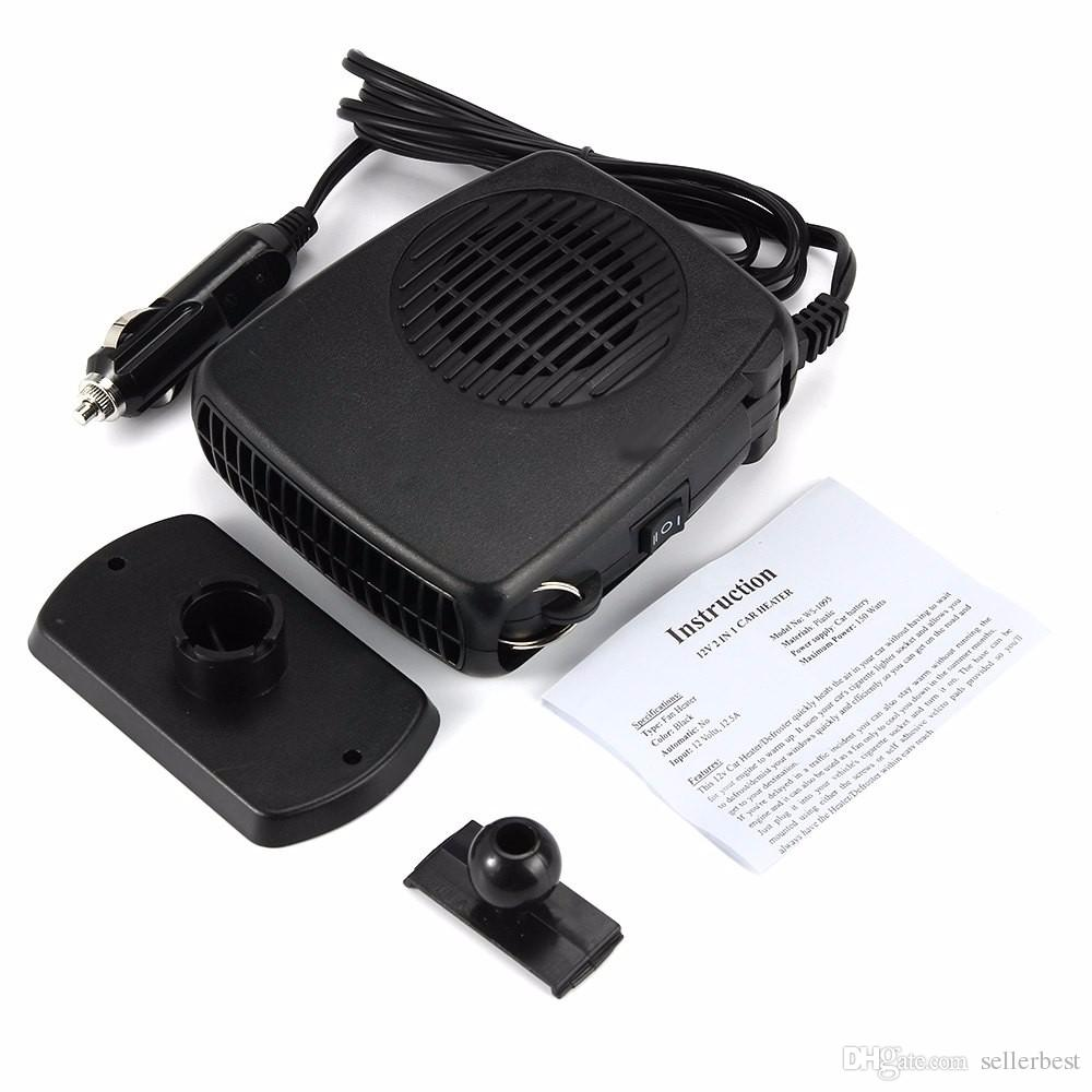 12V 24V SJ-006 Portable 120W-150W Car Heater Heating Defroster with Swing-out Handle Driving Enthusiasts Car-Styling Demisterr Auto Heat Fan