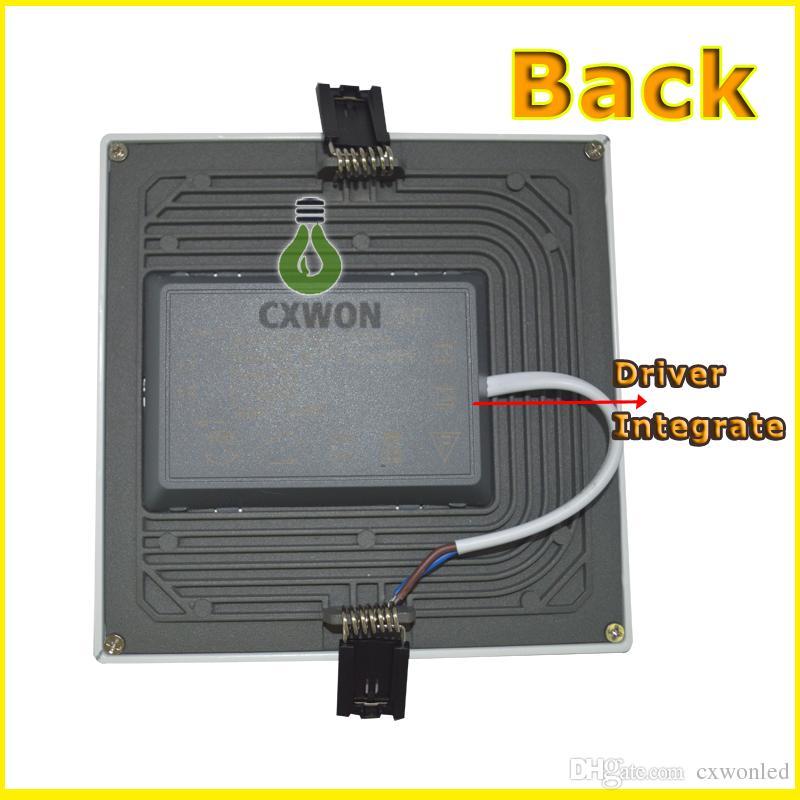 통합 8W 16W 22W 30W LED 조명 패널 램프 CRI85 SMD 4014 고품질 오목한 다운 라이트 주방 욕실
