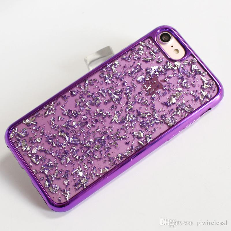 For iphone X 7 plus For ZTE Sequoia Blade Zmax Pro 2 Z982 Electroplating Pictures And Drop Glue TPU Back Cover B
