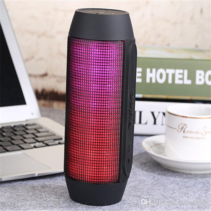 Новый Импульсный Портативный Встроенный Вспышка Светодиодный Динамик Bluetooth Super Bass Беспроводные Мини-Динамики Звуковой Ящик Микрофон TF AUX USB Disck DHL