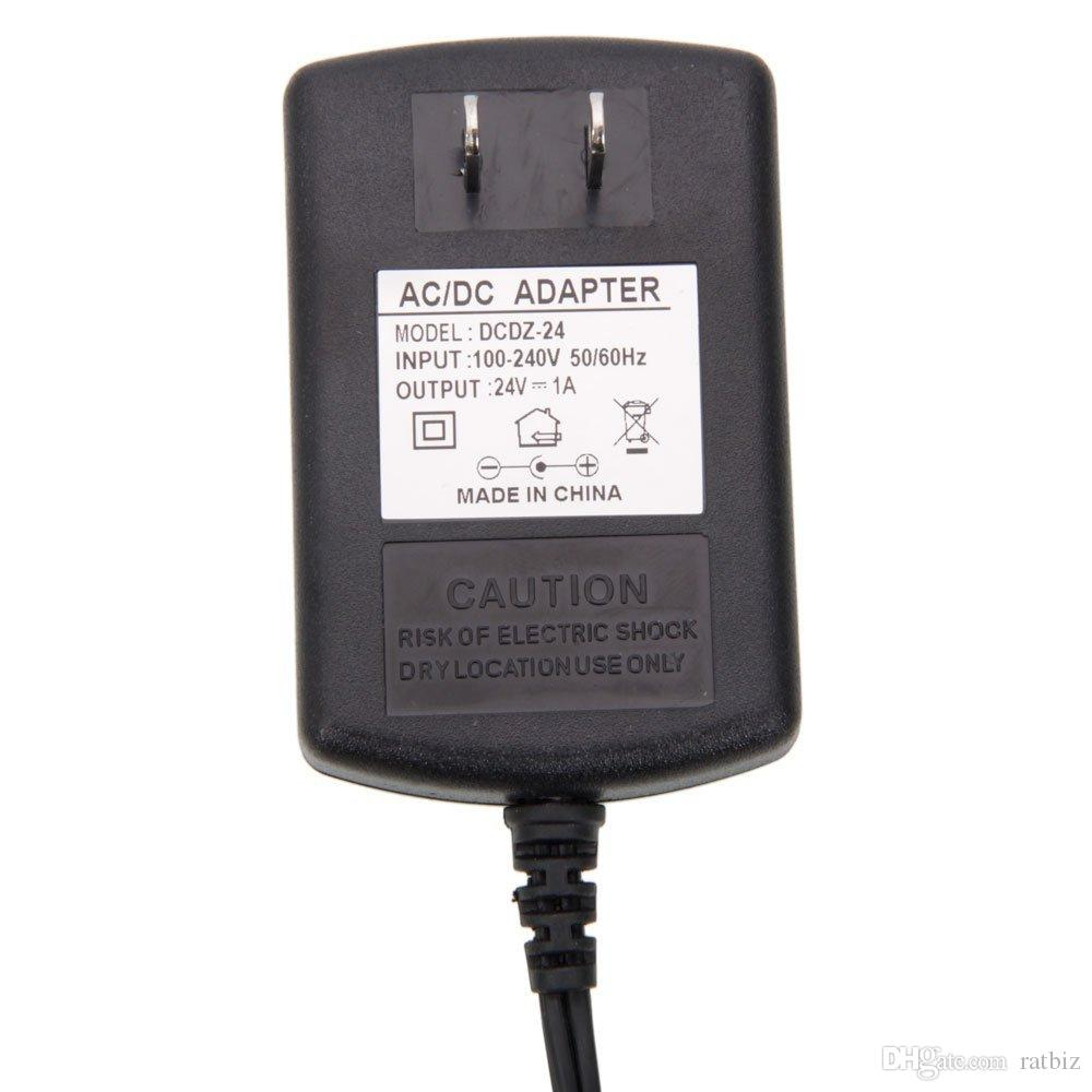 24V 1A US Plug AC DC Adapter AC 100-240V Converter Adapters to DC 24V charger Power Supply 1000mA Adapters 5.5mm x 2.1-2.5mm