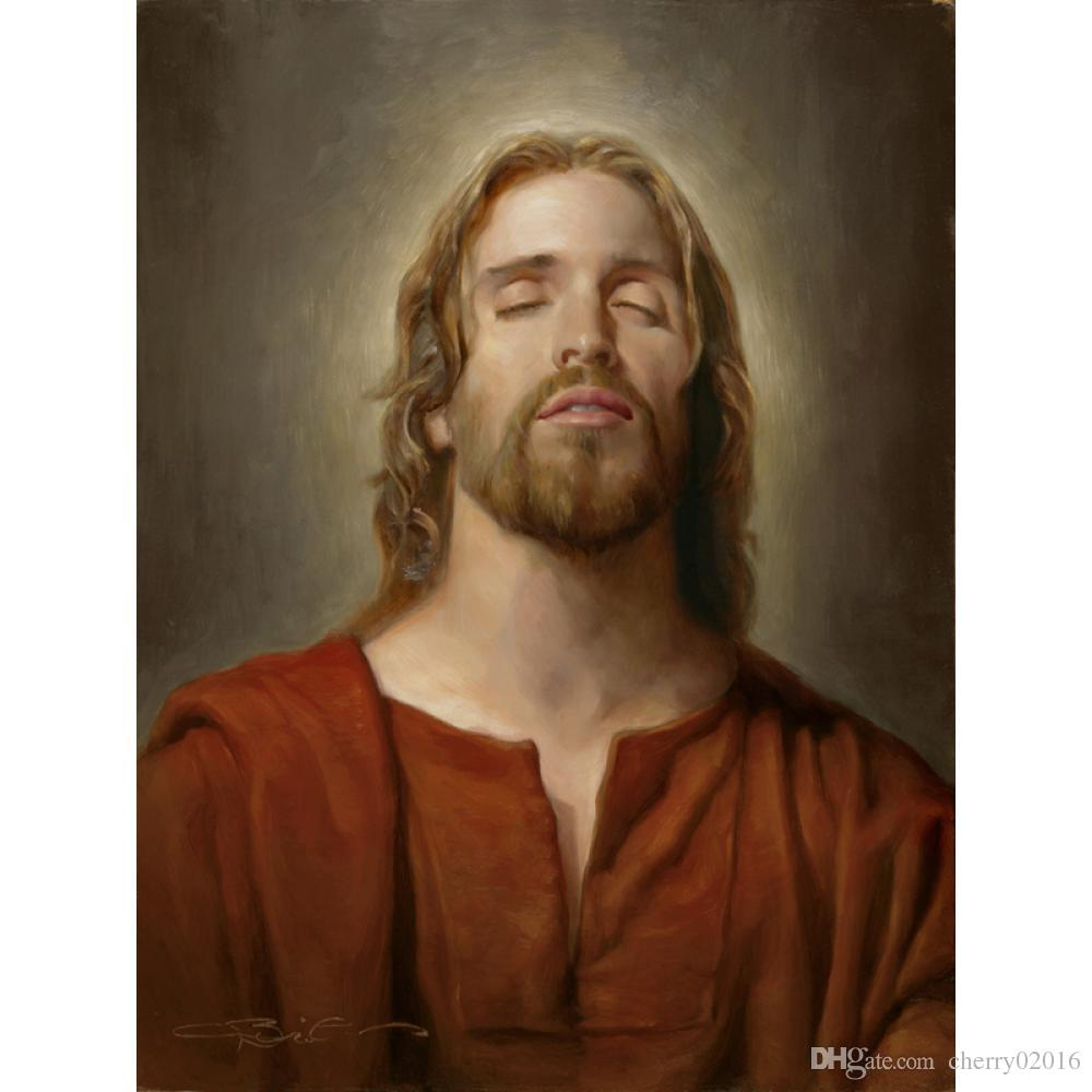 Figure oil Paintings Christ Portrait The Great Mediator Handmade Joseph Brickey Painting canvas art Living room decor