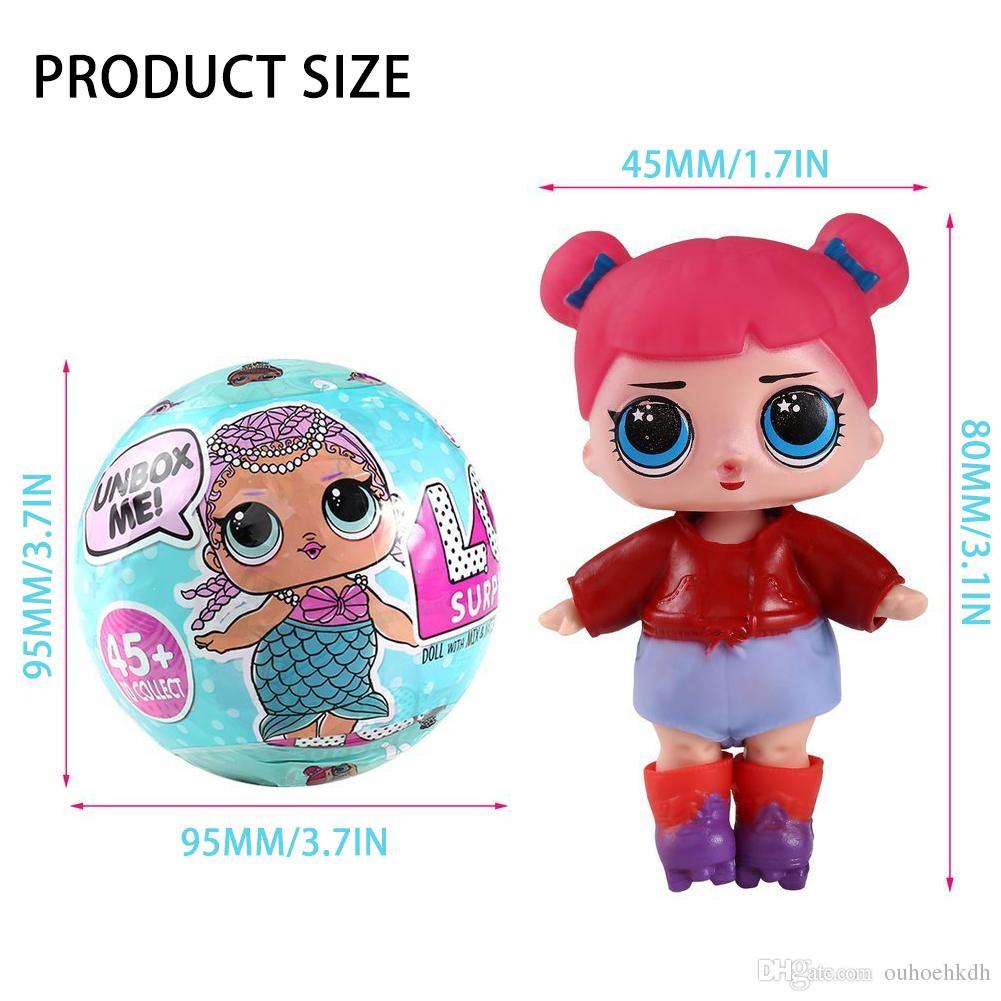 acheter l o l doll series 1 surprise balle jouets 5 couches anniversaire cadeaux boule de. Black Bedroom Furniture Sets. Home Design Ideas