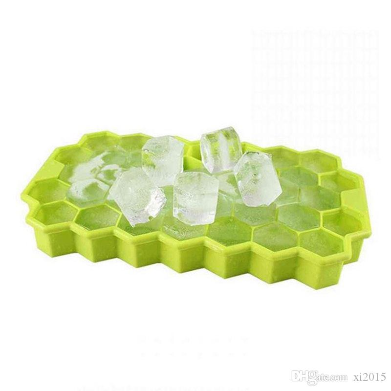 Multi-Style Silicone Ice Ball Cube Tray Freeze Mould Ice Cube Tray Ice-making Box honeycomb Mold For Bar Party Tools Random Color