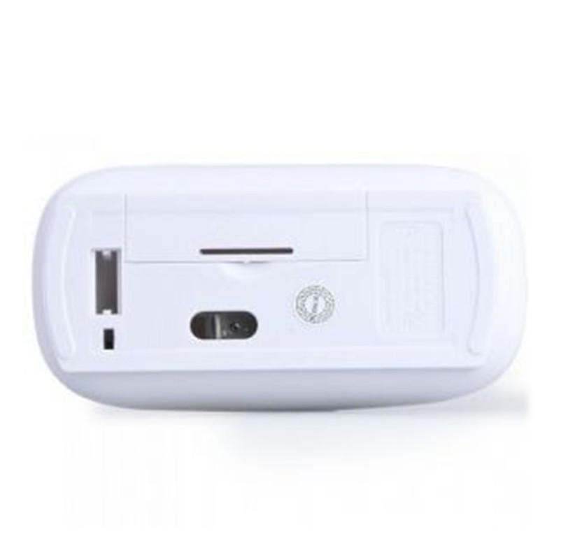 Wholesale送料無料ウルトラスリムUSBワイヤレスマウスホワイトミニオプティカルマウス30個/ロット