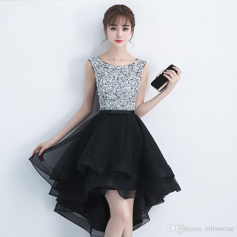 Black Tuxedo For Party/Boutique/Cocktail Elegant Hi Lo Sleeveless ...